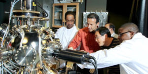 ABET Accredited Engineering students work on Technology project in class with instructors at Norfolk State University.
